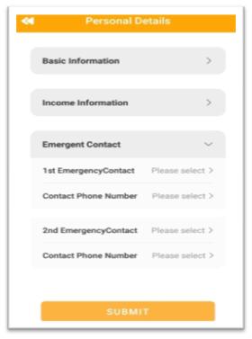 Fill Emergent Contact