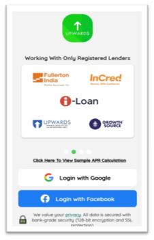 upwards loan app account create in hindi